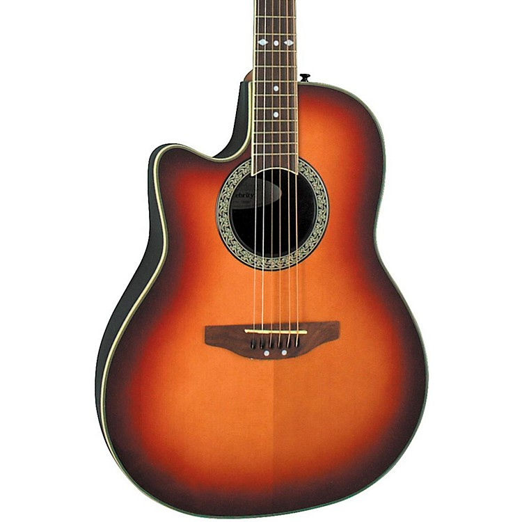 ovation celebrity standard left handed acoustic electric guitar honey burst music123. Black Bedroom Furniture Sets. Home Design Ideas