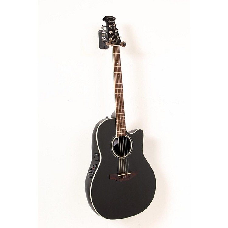 Ovation Celebrity Standard Mid-Depth Cutaway Acoustic-Electric Guitar Black 888365224558