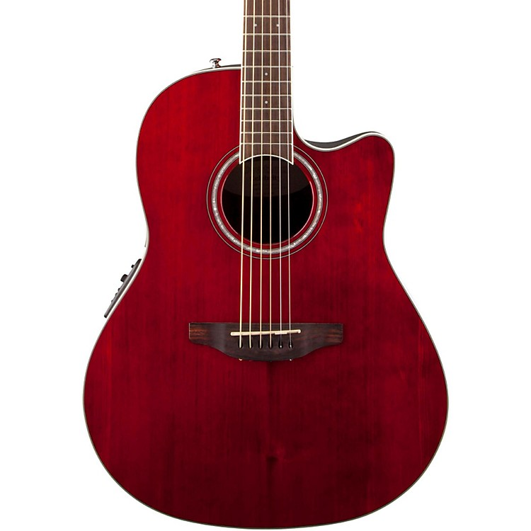 Ovation Celebrity Standard Mid-Depth Cutaway Acoustic-Electric Guitar Ruby Red