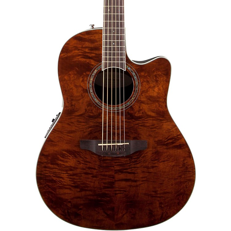 Ovation Celebrity Standard Plus Mid Depth Cutaway Acoustic-Electric Guitar Nutmeg Burled Maple