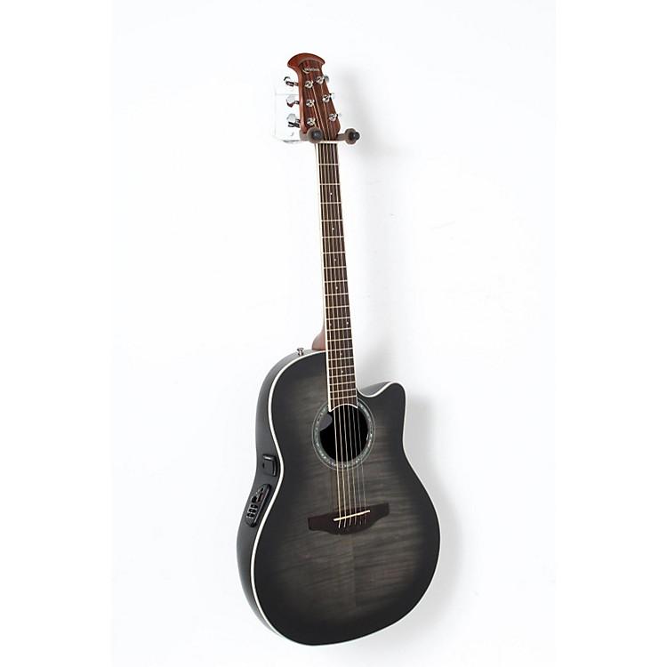 OvationCelebrity Standard Plus Mid Depth Cutaway Acoustic-Electric GuitarTransparent Black Flame888365842943