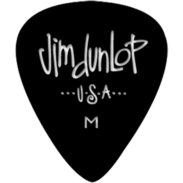 DunlopCelluloid Classic Guitar Picks 1 DozenBlackMedium