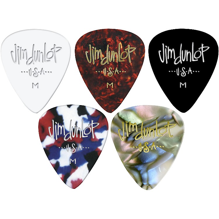 Dunlop Celluloid Classic Guitar Picks 1 Dozen Confetti Medium