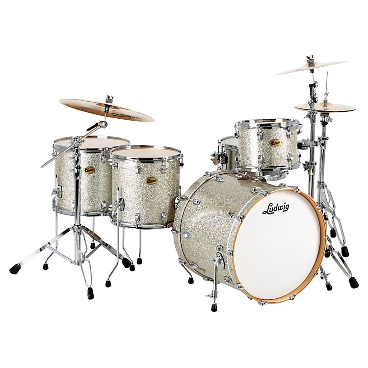 Ludwig Centennial Dragster 4-Piece Shell Pack Silver Sparkle