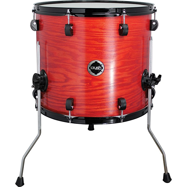 Crush Drums & Percussion Chameleon Ash Floor Tom Trans Satin Orange 14x13