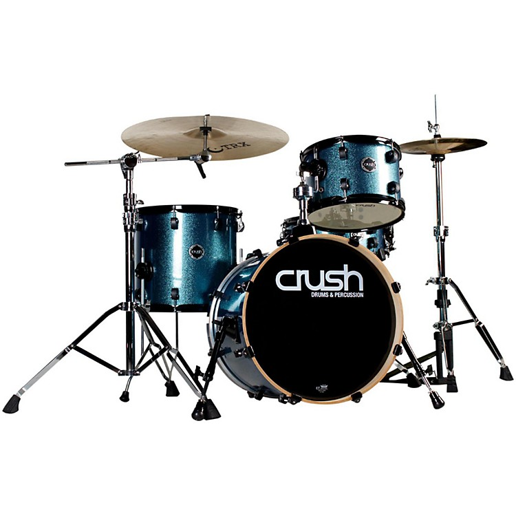 Crush Drums & Percussion Chameleon Birch 4-Piece Shell Pack Bop Kit Blue Sparkle Wrap
