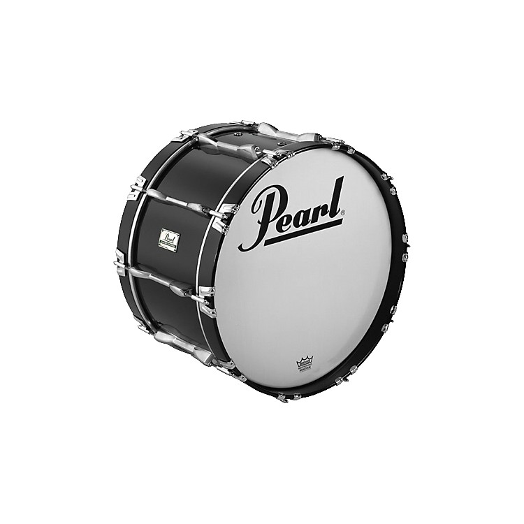 Pearl Championship ArticuLite Series Indoor Marching Bass Drum Black 18X12 Inches