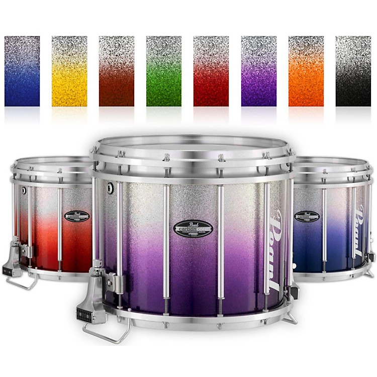 PearlChampionship CarbonCore Varsity FFX Marching Snare Drum Fade Bottom Finish14 x 12 in.Purple Silver #976