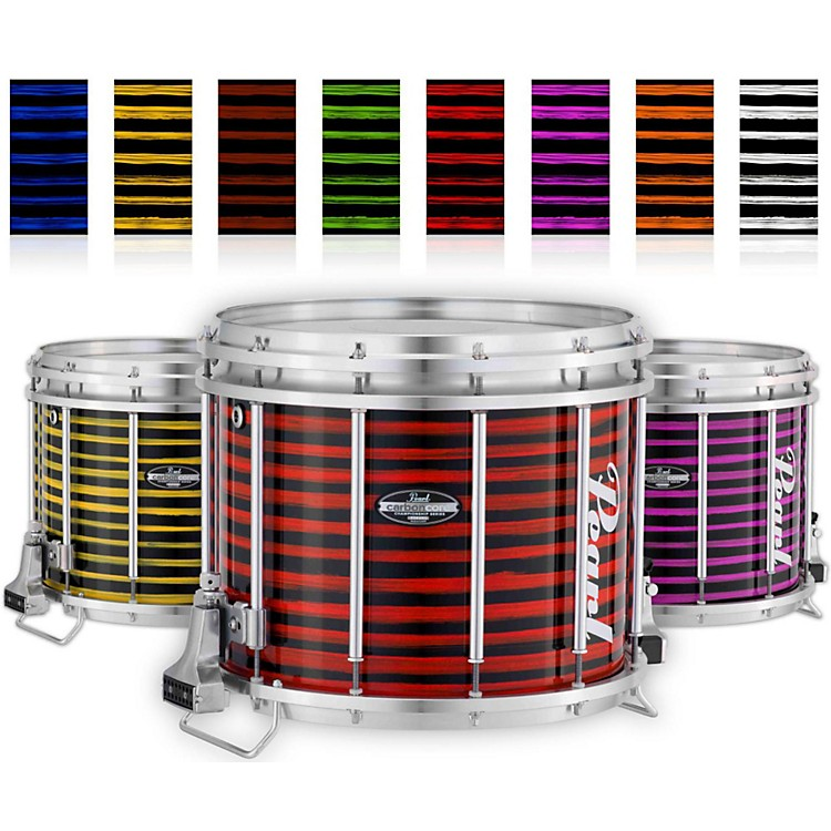 PearlChampionship CarbonCore Varsity FFX Marching Snare Drum Spiral Finish14 x 12 in.Red #992