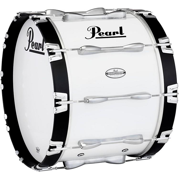 PearlChampionship Maple Marching Bass Drum 20x14 InchPure White