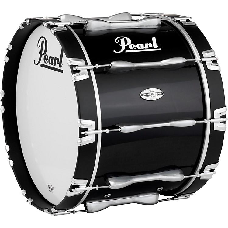 PearlChampionship Maple Marching Bass Drum 20x14 InchMidnight Black