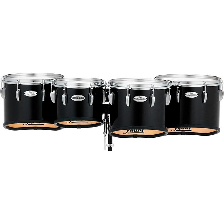 PearlChampionship Maple Marching Tenor Drums Quad Sonic Cut10,12,13,14 InchMidnight Black
