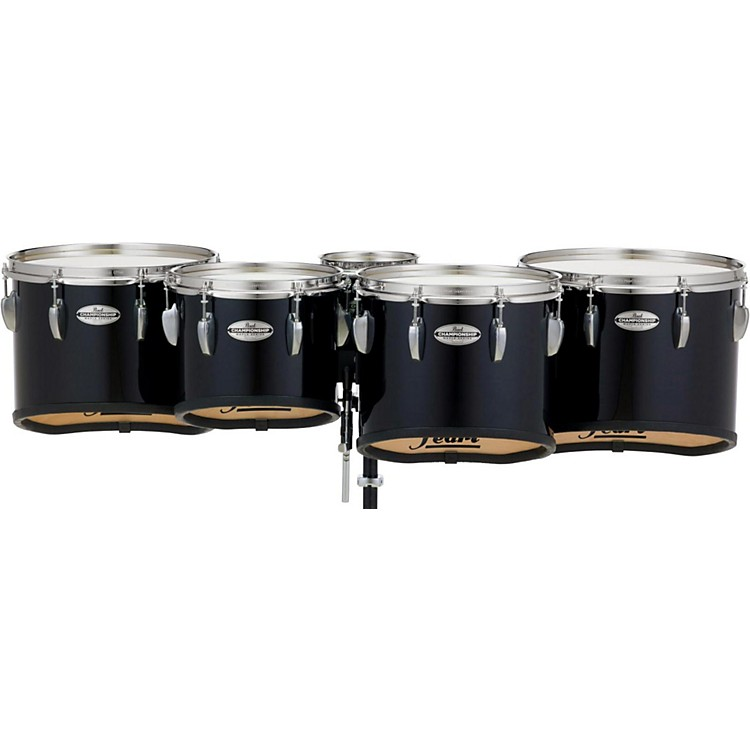 PearlChampionship Maple Marching Tenor Drums Quint Sonic Cut6, 10, 12, 13, 14 in.Midnight Black #46