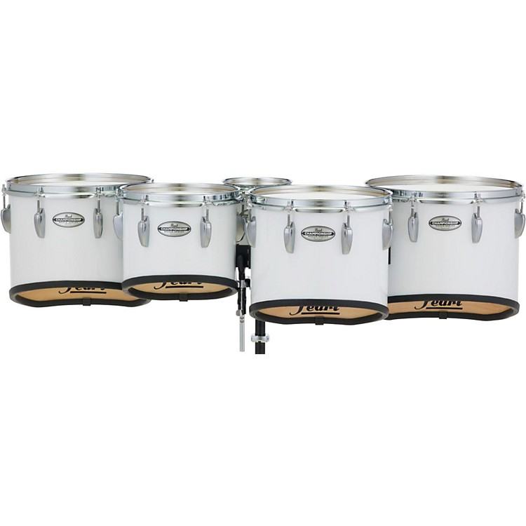 Pearl Championship Maple Marching Tenor Drums Quint Sonic Cut 6, 10, 12, 13, 14 in. Pure White #33
