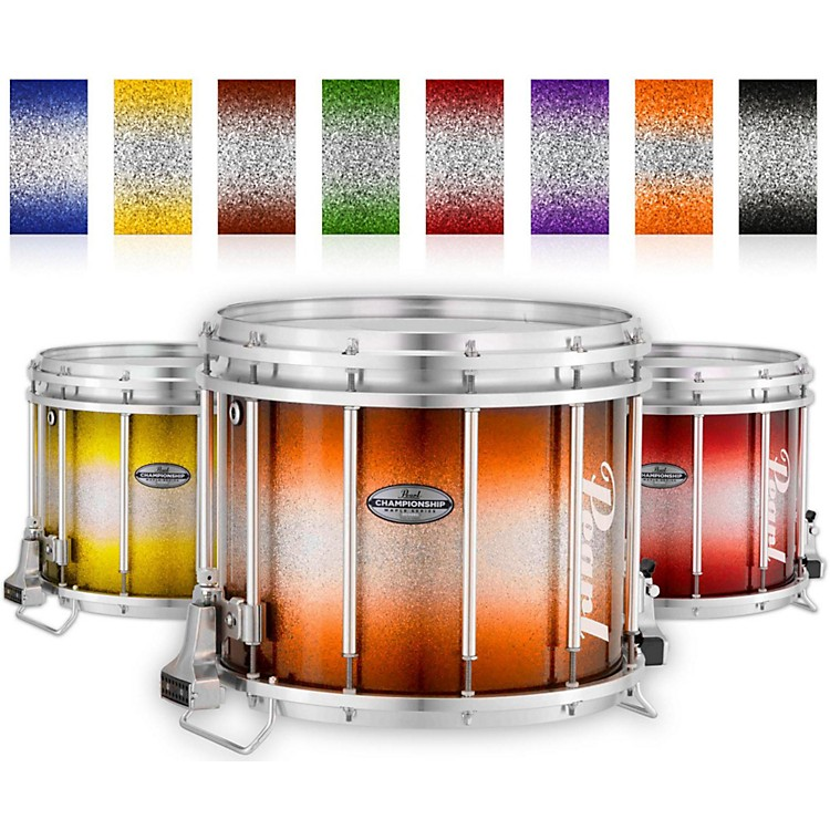 Pearl Championship Maple Varsity FFX Marching Snare Drum Burst Finish 14 x 12 in. Orange Silver #978