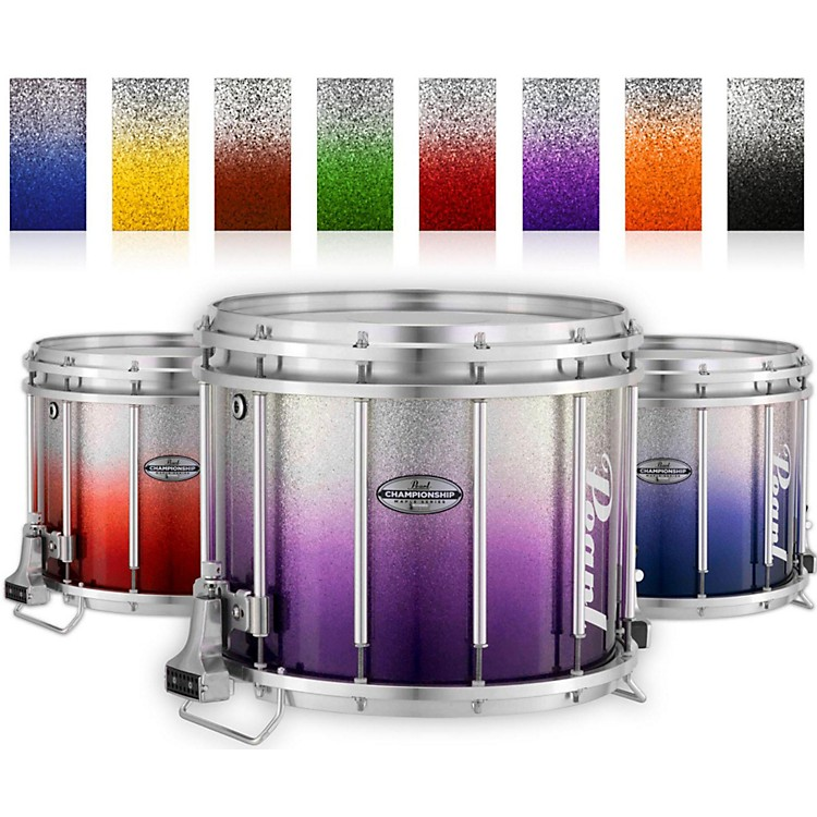 PearlChampionship Maple Varsity FFX Marching Snare Drum Fade Bottom Finish14 x 12 in.Purple Silver #976