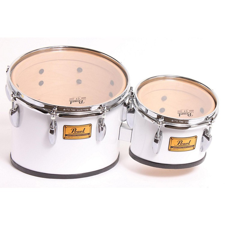 Pearl Championship Marching Tom Set with R Ring #33 Pure White, 8, 10,12,13 set 886830102448