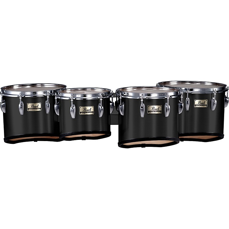 Pearl Championship Marching Tom Set with R Ring Midnight Black (#46) 8, 10,12,13 set