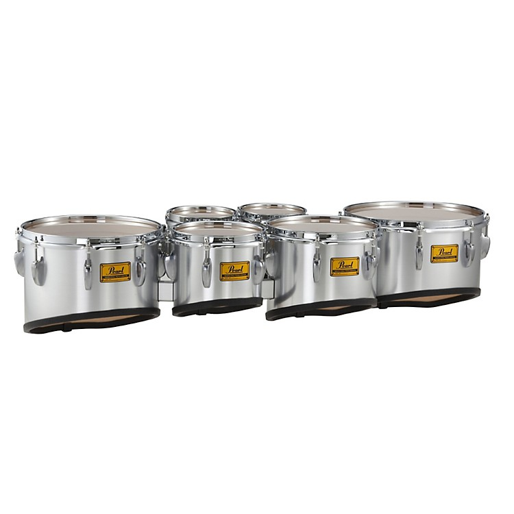 Pearl Championship Shallow Cut Marching Sextet Tom Set 6, 6, 8, 10, 12, 13 #46 Midnight Black 6 X 8