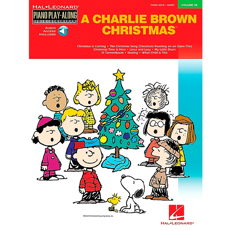 Hal Leonard Charlie Brown Christmas Piano-Play-Along Vol. 34 Book with CD