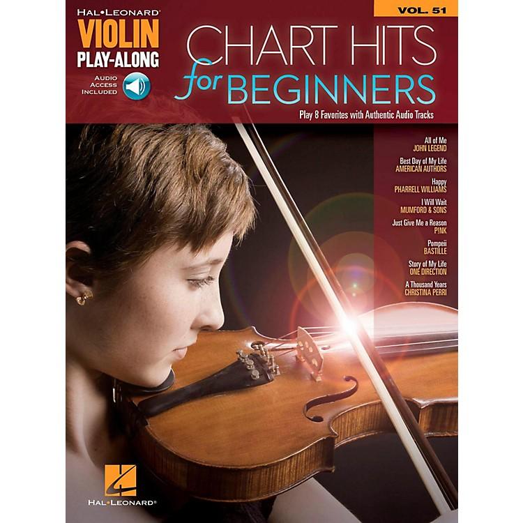 Hal LeonardChart Hits For Beginners Violin Play-Along Volume 51 Book/Audio Online