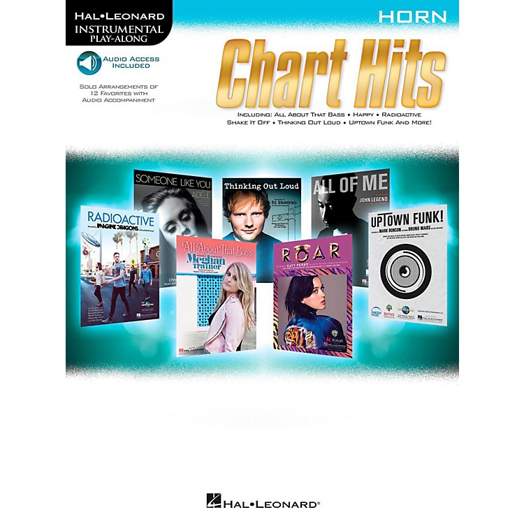 Hal LeonardChart Hits For Horn - Instrumental Play-Along (Book/Online Audio)