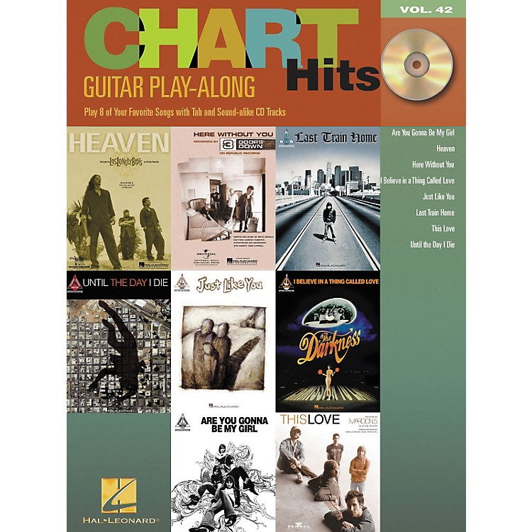Hal Leonard Chart Hits Guitar Play-Along Series Volume 42 Book with CD
