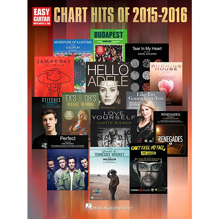 Hal Leonard Chart Hits of 2015-2016 (Easy Guitar with Tab)