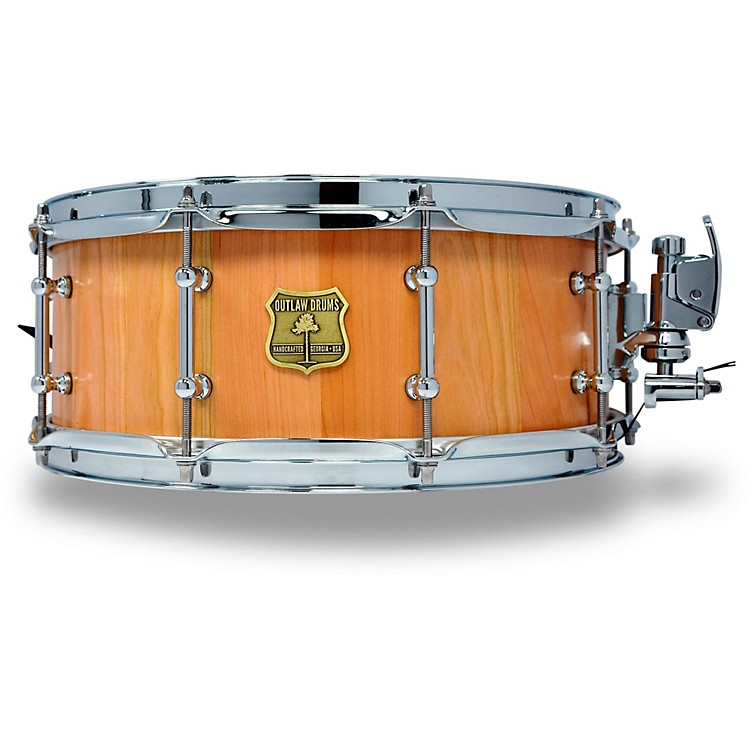 OUTLAW DRUMSCherry Stave Snare Drum with Chrome Hardware14 x 5.5 in.Natural