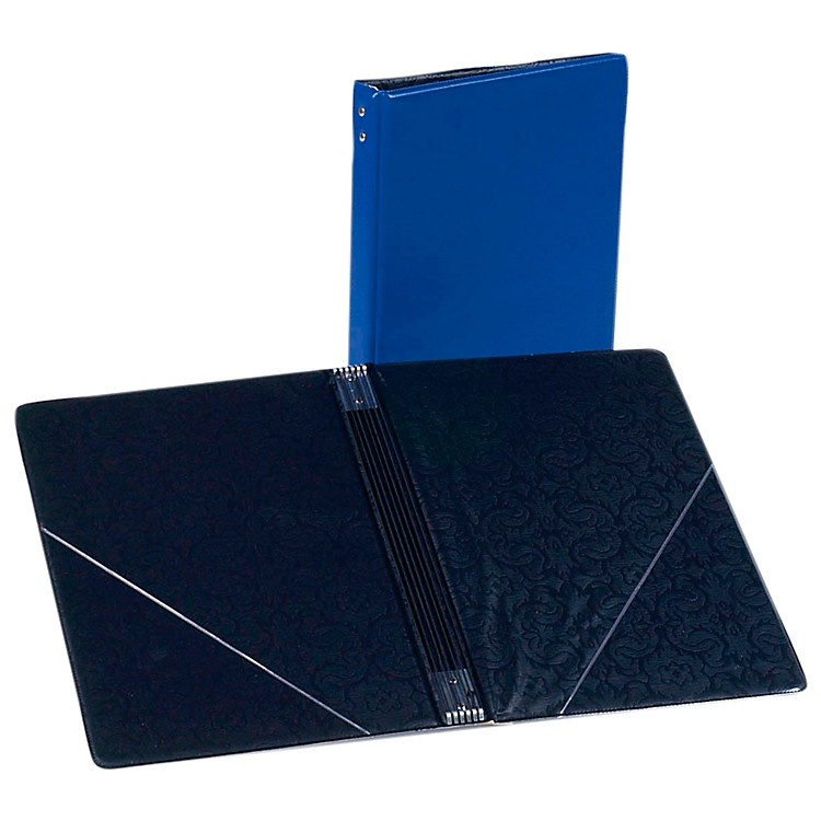Marlo Plastics Choral Folder 7-3/4 x 11 With 7 Elastic Stays and 2 Clear, Flat, Diagonal Internal Pockets Blue