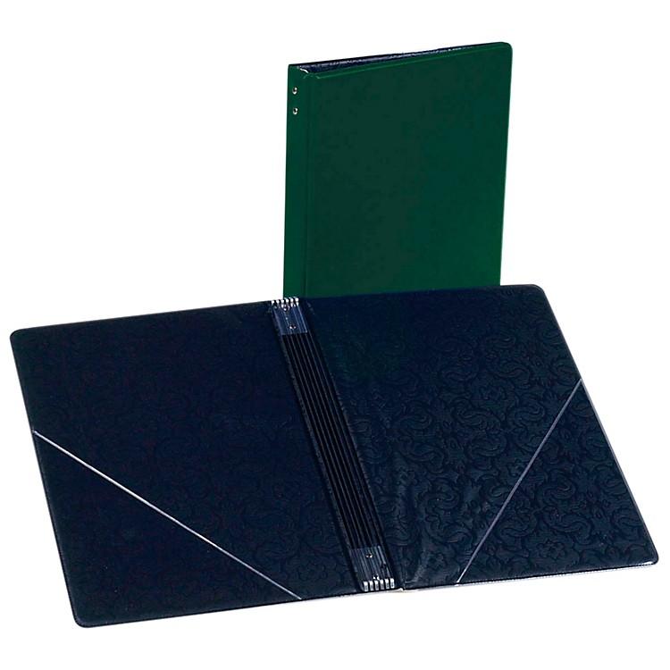 Marlo PlasticsChoral Folder 7-3/4 x 11 With 7 Elastic Stays and 2 Clear, Flat, Diagonal Internal PocketsGreen