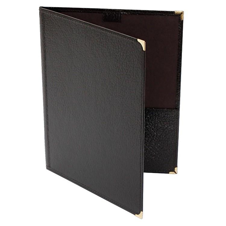 Deer RiverChoral Leatherette Folio With Pencil Loop Bottom PocketsBlack9x12