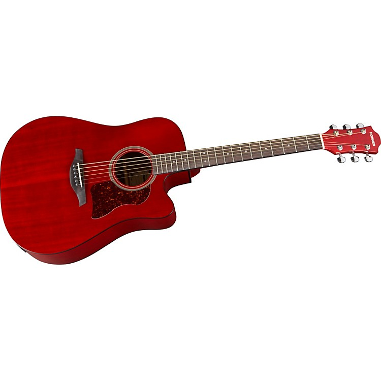 Hohner Chorus Series Mahogany Acoustic-Electric Guitar Transparent Wine Red