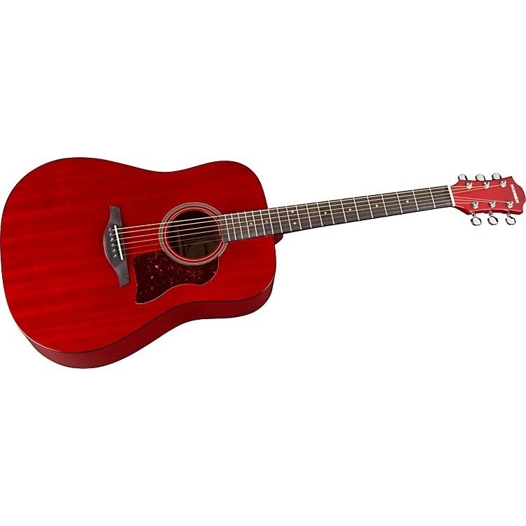 Hohner Chorus Series Mahogany Acoustic Guitar Transparent Wine Red