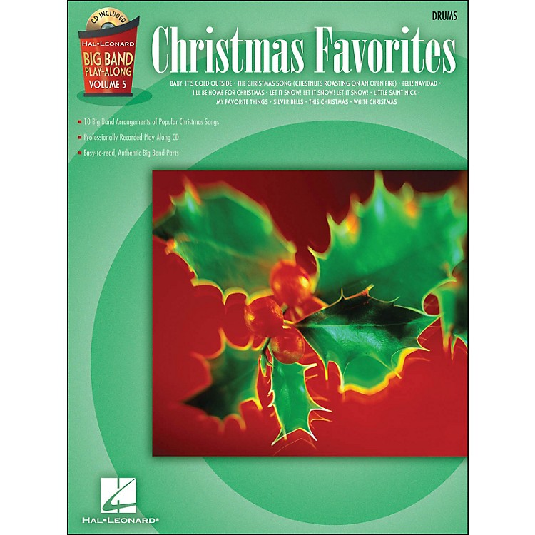 Hal Leonard Christmas Favorites Big Band Play-Along Vol. 5 Drums Book/CD