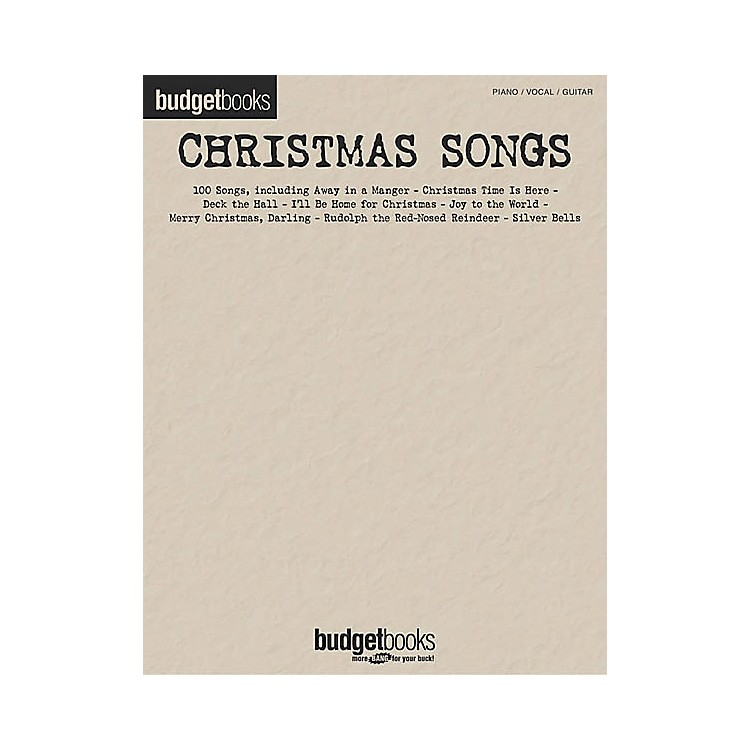 Hal LeonardChristmas Songs Budget Piano, Vocal, Guitar Songbook