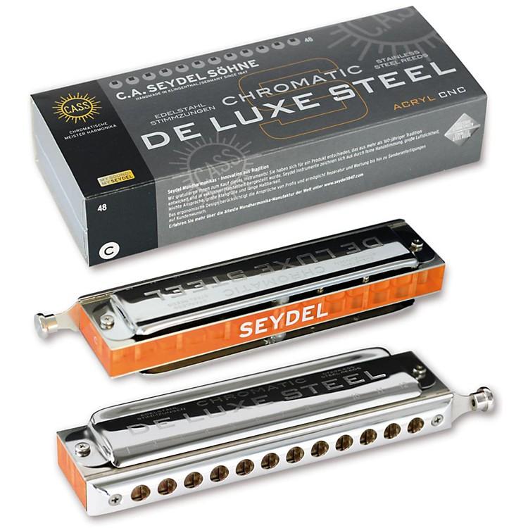 SEYDELChromatic DeLuxe Steel Solo HarmonicaBb