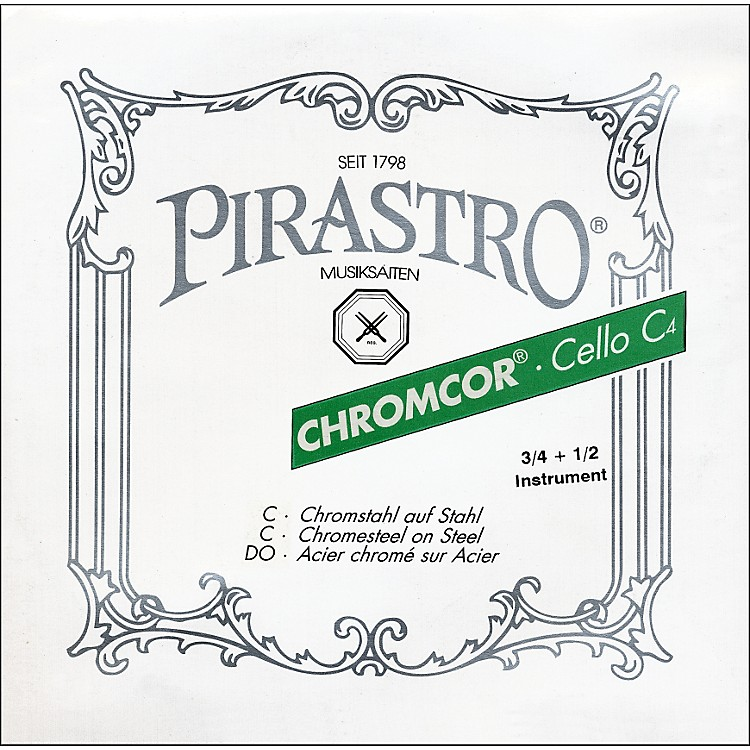 Pirastro Chromcor Series Cello String Set 3/4-1/2