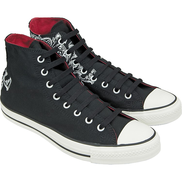 Converse Chuck Taylor All Star Crest Print Hi-Top Sneakers (Black) Size 08