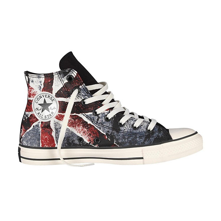 Converse Chuck Taylor All Star High-Top Black/Chili Pepper/Vintage Indigo Flag Men's Size 8