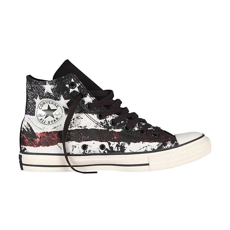 Converse Chuck Taylor All Star High-Top White/Chili Pepper/Vintage Indigo Flag Mens Size 8