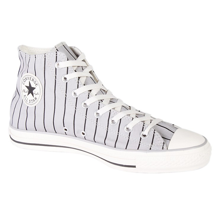 ConverseChuck Taylor All Star Stripe Hi-Top Sneakers (Grey/White)