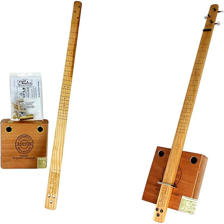 C.B. GittyCigar Box Pure & Simple 3-String Slide Guitar KitNatural