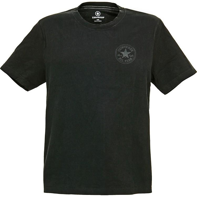 ConverseCircle Star Logo with Footprint T-ShirtGrayLarge