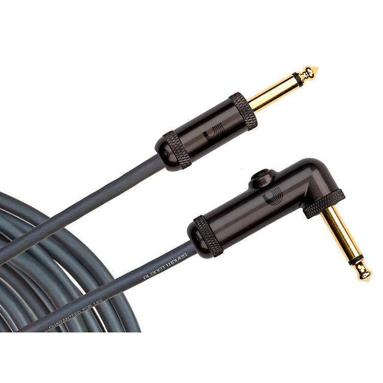 D'Addario Planet WavesCircuit Breaker Cable Right Angle-Straight10 ft.
