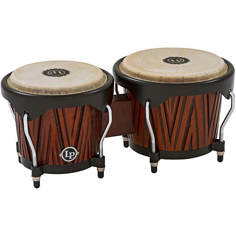 LP City Bongos Carved Mango/Mahogany Wood
