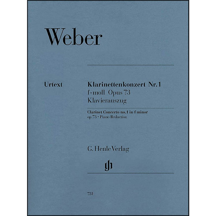 G. Henle Verlag Clarinet Concerto No. 1 in F minor, Op. 73 By Weber