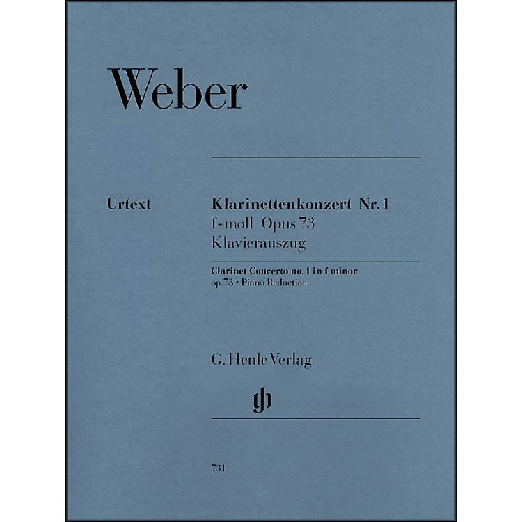 G. Henle VerlagClarinet Concerto No. 1 in F minor, Op. 73 By Weber