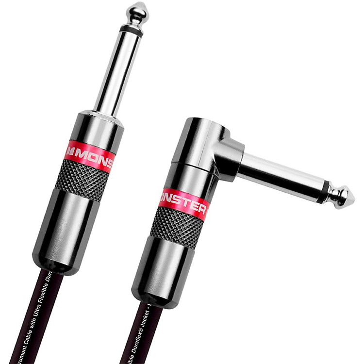 Monster CableClassic 1/4 Inch Angled to Straight Instrument Cable