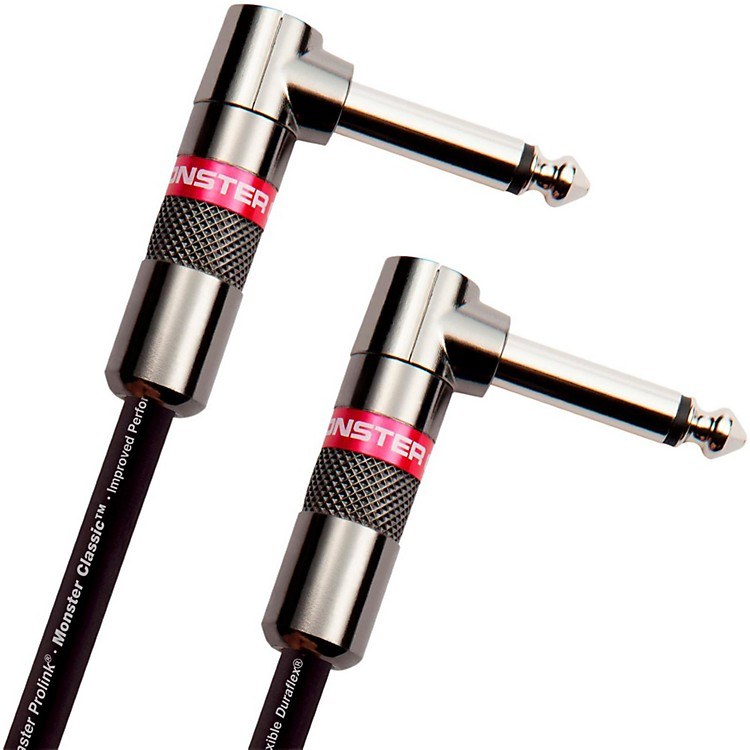Monster CableClassic 1/4 Inch Dual Angled Instrument Cable8 Inch